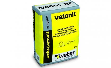 weber.vetonit JB 1000/3 серый, 25 кг