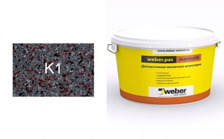 weber.pas marmolit k1, 25 кг