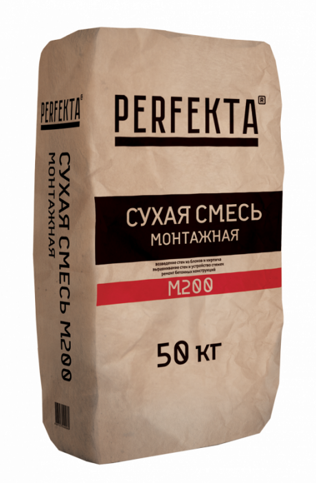 Смесь сухая монтажная Пескобетон М200, 50 кг