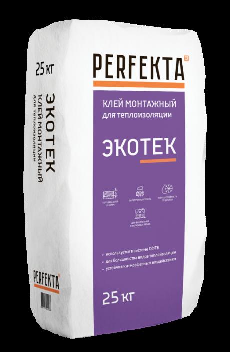 Клей монтажный для теплоизоляции Экотек, 25 кг