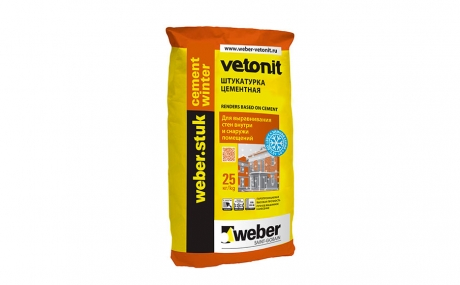 weber.stuk cement winter, 25 кг