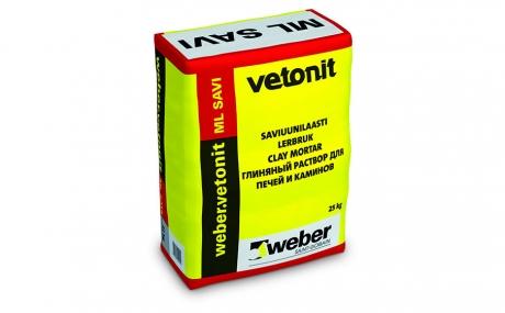 weber.vetonit ML Savi для кладки печей и каминов 25 кг