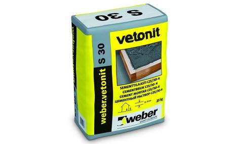 weber.vetonit S30 P, серый, 25 кг