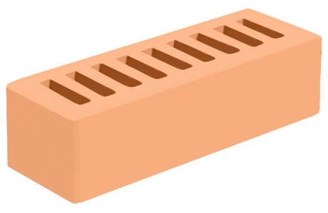 Кирпич евро лицевой желтый 'Соломенный' с гладкой поверхностью