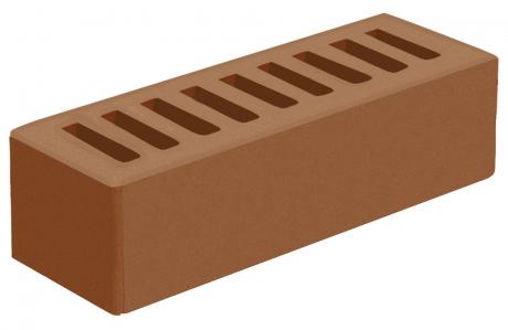 Кирпич евро лицевой коричневый 'Терракотовый' с гладкой поверхностью