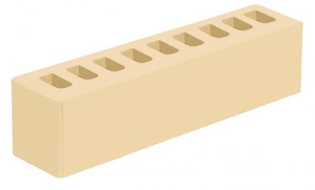 Кирпич ИК-2 лицевой белый 'Белые ночи' с гладкой поверхностью