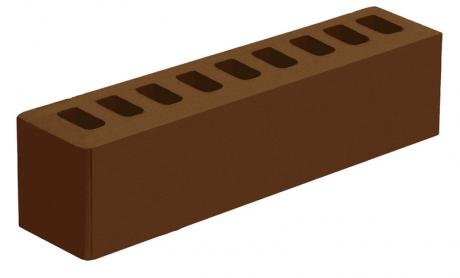 Кирпич ИК-2 лицевой 'Коричневый' с гладкой поверхностью
