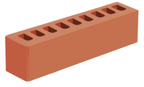 Кирпич ИК-2 лицевой 'Красный' с гладкой поверхностью