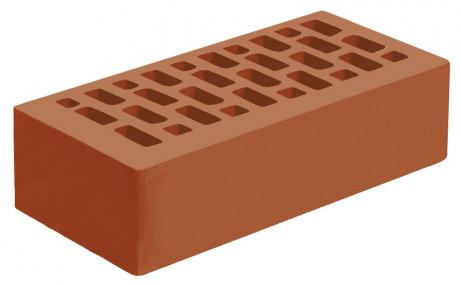 Кирпич лицевой красный 'Корица' с гладкой поверхностью
