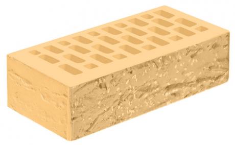 Кирпич лицевой желтый 'Янтарь' с поверхностью Винтаж
