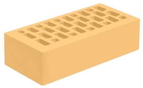 Кирпич лицевой желтый 'Янтарь' с гладкой поверхностью