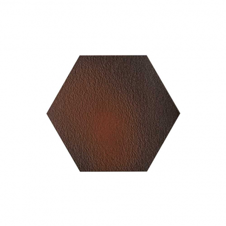 Paradyz Cloud Brown Duro Heksagon плитка напольная структурная 26×26