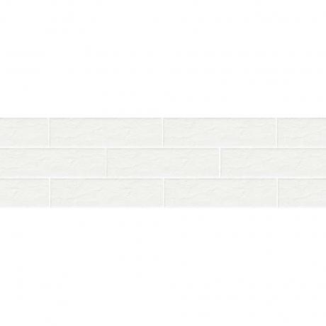 Paradyz Scandiano Bianco плитка фасадная структурная 6,6×24,5