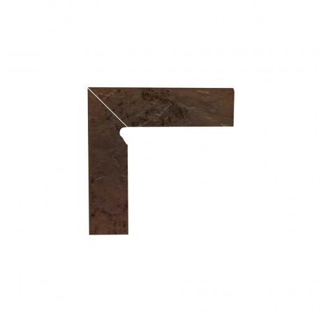 Paradyz Semir Brown плинтус левый структурный 2-х элем 8,1×30