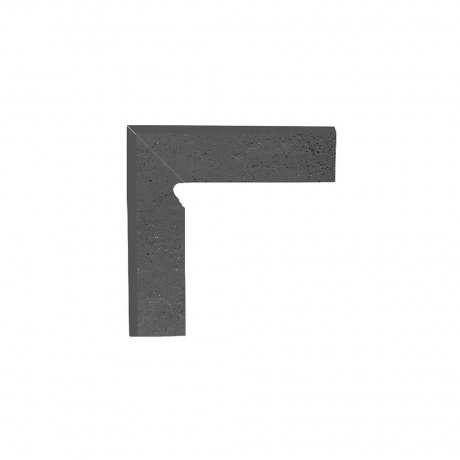 Paradyz Semir Grafit плинтус левый структурный 2-х элем 8,1×30