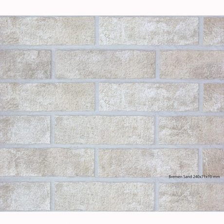 SDS Bremen Sand плитка фасадная 7×24,5