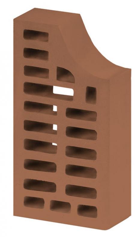 Кирпич фасонный ФЛ-11 лицевой коричневый 'Терракотовый'