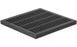 Решетка водоприемная Gidrolica Point РВ-40.40 кл. А15 пластиковая, 390*390*35 мм
