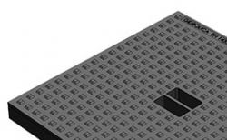Крышка для дождеприемника Gidrolica Point ДП-40.40 кл. А15 пластиковая, 390*390*35 мм