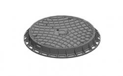 Люк канализационный Gidrolica Garden Л пластиковый черный, 750*750*80 мм