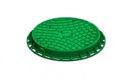 Люк канализационный Gidrolica Garden Л пластиковый зеленый, 750*750*80 мм