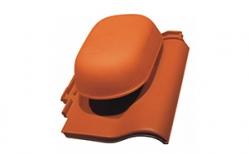 Керамическая черепица проходная с вентиляционной насадкой Koramic Alegra 8 Noble Black