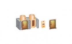 Комплект дополнительной дверцы прочистки SCHIEDEL UNI двухходовой 0,66 п.м, 32*72 см, D 16L16 см