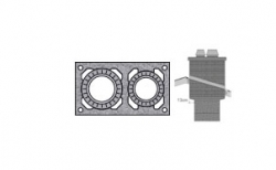 Верхний комплект для дымохода SCHIEDEL UNI без вентиляционного канала под обмуровку кирпичом, D 20/20 см