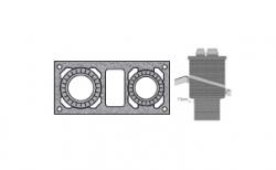 Верхний комплект для дымохода SCHIEDEL UNI с вентиляционным каналом под обмуровку кирпичом, D 16/16 см