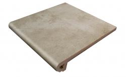 Клинкерная ступень-флорентинер Gres Aragon Antic Ceniza, 330*325*18(53) мм