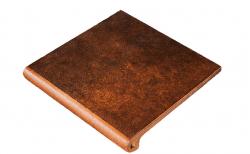 Клинкерная ступень-флорентинер Gres Aragon Mytho Rubino, 330*325*18(53) мм