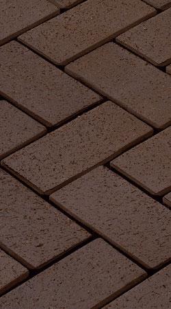 Клинкерная брусчатка Vandersanden Wega (коричневая, рельефная)