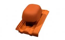 Проходной комплект для вентиляции (D=125 мм) Koramic Mondo 15 Copper Brown Engobe