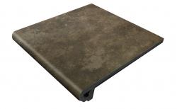 Клинкерная ступень-флорентинер Gres Aragon Antic Basalto, 330*325*18(53) мм