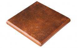 Клинкерная угловая ступень-флорентинер Gres Aragon Mytho Rubino, 330*330*18(53) мм