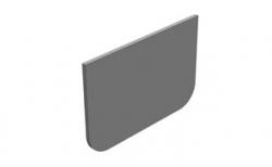 Торцевая заглушка для водоотводного лотка Gidrolica DN100 пластиковая, 100*2,7*68 мм