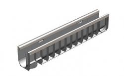 Лоток водоотводный Gidrolica Standart Plus DN100 ЛВ-10.14,5.18,5 кл. С250, 1000*148*188 мм