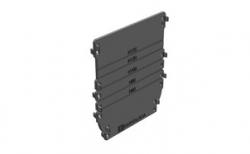 Торцевая заглушка для водоотводного лотка Gidrolica DN100 пластиковая, 152*4*185 мм