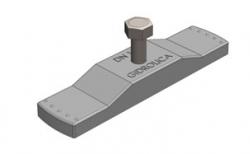 Крепеж для пластикового водоотводного лотка Gidrolica DN100, 119*28*14 мм
