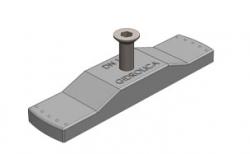 Крепеж для пластикового водоотводного лотка Gidrolica DN100 и решетки РВ-10.13,6.100, 119*28*14 мм