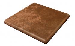 Клинкерная угловая ступень-флорентинер Gres Aragon Antic Marron, 330*330*18(53) мм