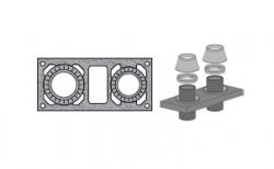 Верхний комплект для дымохода SCHIEDEL UNI с вентиляционным каналом под изоляцию 5 см, D 16/16 см