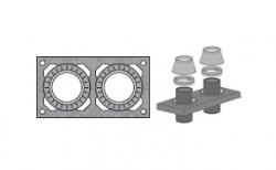 Верхний комплект для дымохода SCHIEDEL UNI без вентиляционного канала под изоляцию 5 см, D 14/16 см