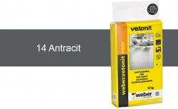 weber.vetonit Prof 14 Antracit 15 кг