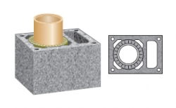 Керамический дымоход SCHIEDEL UNI одноходовой 4 п.м, 36*50 см, D 20L см
