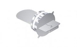 Комплект шибера для дымохода SCHIEDEL UNI универсальный с вентиляцией (2 шибера), D 14L14 см