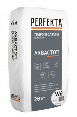 Гидроизоляция обмазочная Аквастоп W6, 20 кг