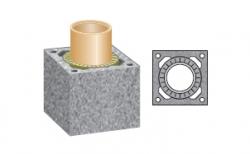 Керамический дымоход SCHIEDEL UNI одноходовой 0,33 п.м, 36*36 см, D 18 см