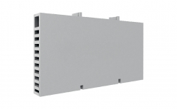 Вентиляционные коробочки для кирпичной кладки белые 80х60х12 мм