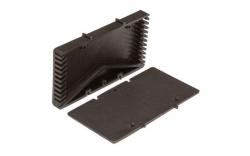 Вентиляционные коробочки для кирпичной кладки серые 80х60х12 мм